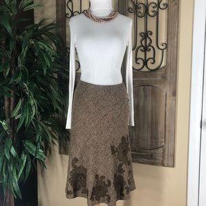 Women's Express mix wool high waisted skirt